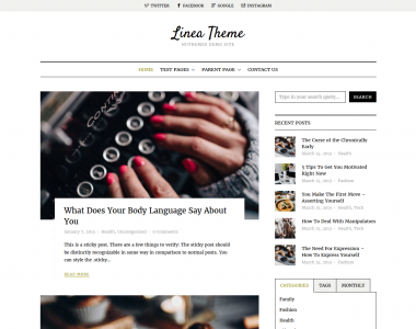 Linea WordPress Theme