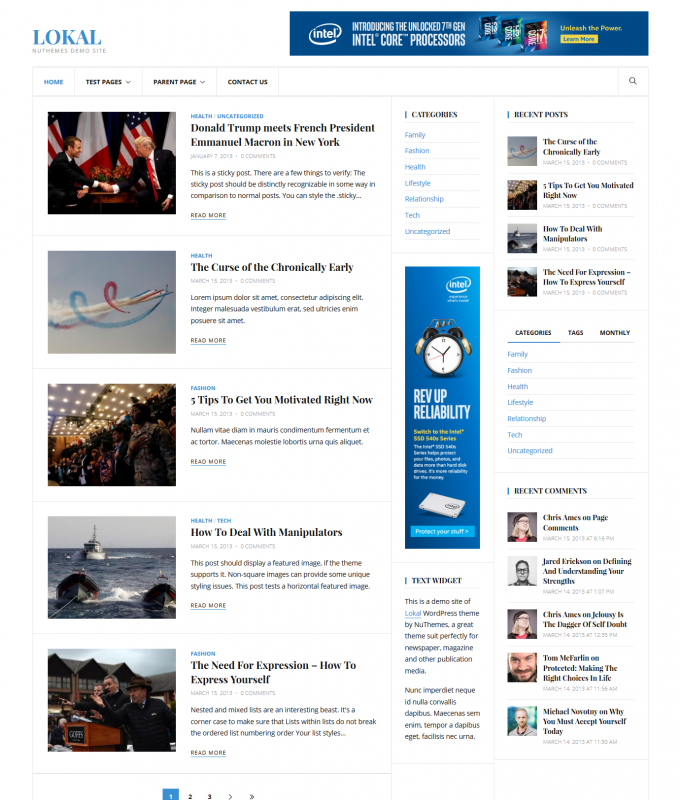 Lokal WordPress Theme